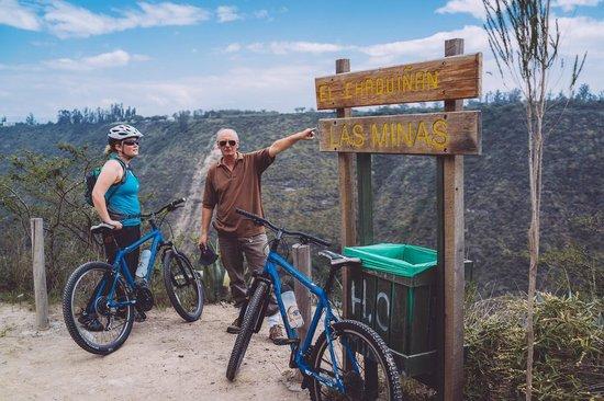 Biking Dutchman: Jan showing us the route