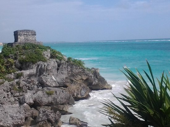 Tulum Avenue: small beach was closed but gorgeous