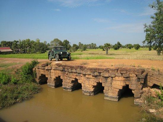 VJT Adventures: Jeep on the ancient bridge, Siem Reap