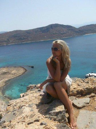 Strand von Elafonissi: Балос, вид с крепости