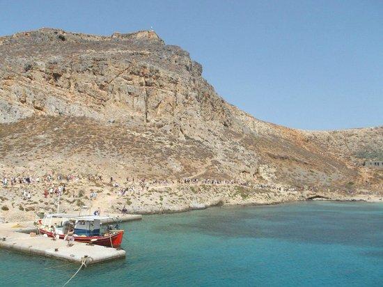 Strand von Elafonissi: Балос. восхождение на крепость