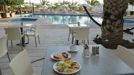 Elounda Palm Hotel: Terrasse du Restaurant.