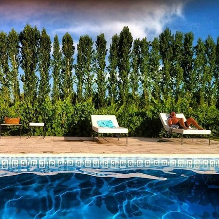 Posada Verde Oliva: Relaxing by the pool is a must