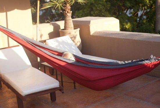 Les Jardins de la Medina: me in the hammock!