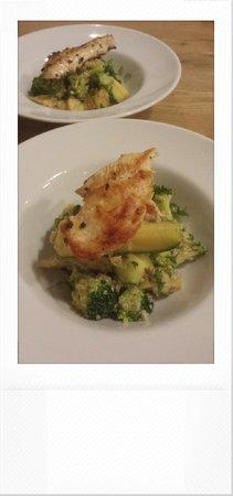 Made by Jonty: Quinoa & parsley salad, broccoli, artichoke & brined courgettes.