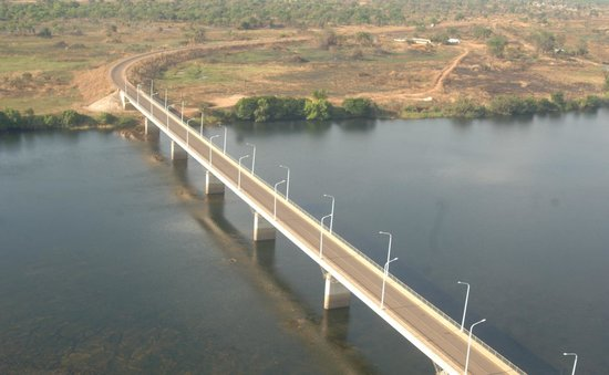 The Mwanawasa Bridge on Luapula River in Chembe District of Luapula Province- Picture by ALEX MU