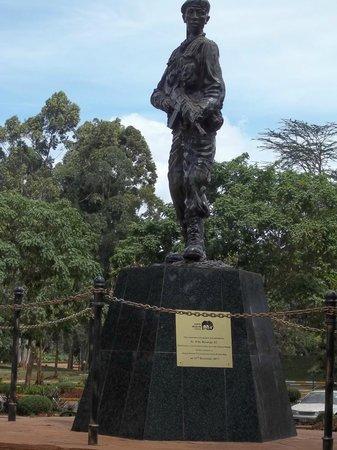 Nairobi Safari Walk: A statue within the KWS Headquaters