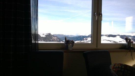 Hotel Goldknopf: Vista dalla sala da pranzo
