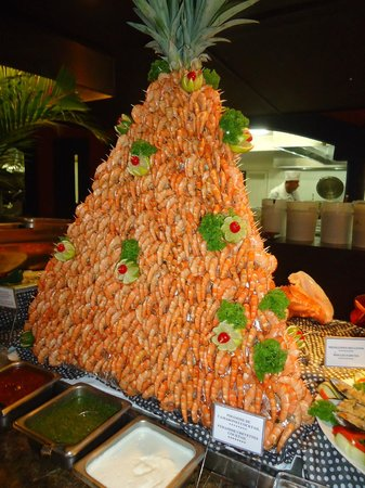 Barcelo Montelimar: Magnifique pyramide de crevettes