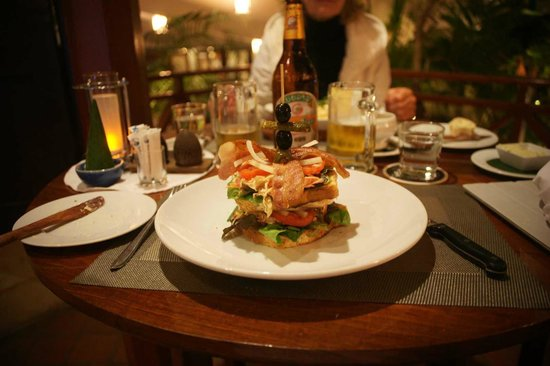 Blue Lagoon Restaurant: Club Sandwich
