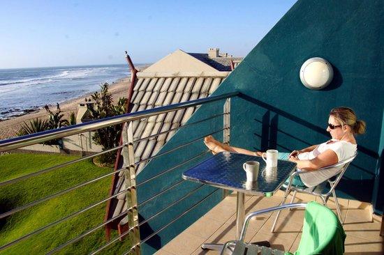 Beach Lodge Swakopmund: Blick vom Balkon im 2. Stock