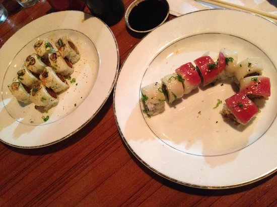 Aki Sushi: Luna roll and candy cane roll! Amazing!
