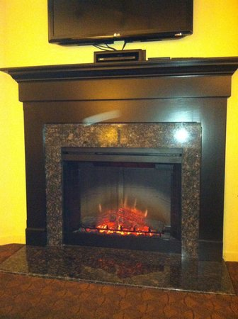 The Colonies at Williamsburg Resort: Loved the fireplace!