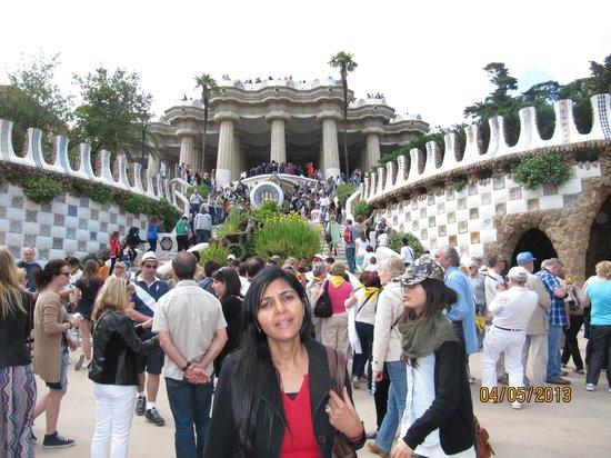 Parc Güell : The central atrium