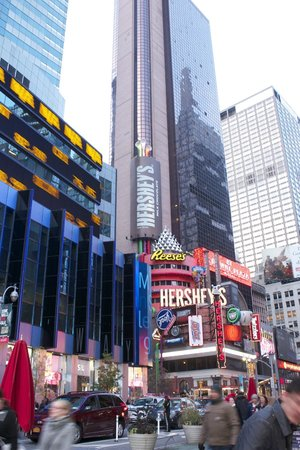 New York Marriott Marquis: Times Square...just outside hotel door