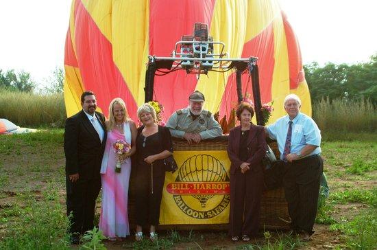 Bill Harrop's Original Balloon Safaris: Balloon Wedding - Who landed Who?