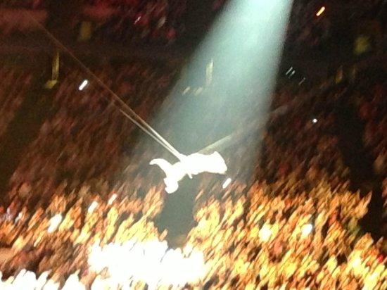 Izod Center: P!nk flying through the air