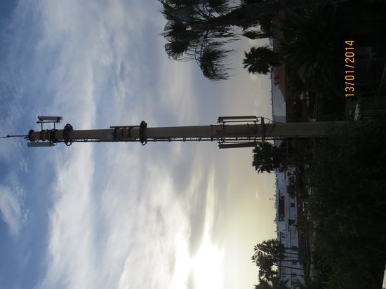 Oasis Duna Hotel: Telephone mast