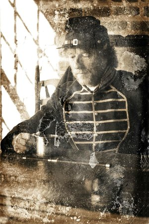 Fort Clinch State Park: I took these on 1/5/14, antiqued them. A Union musician