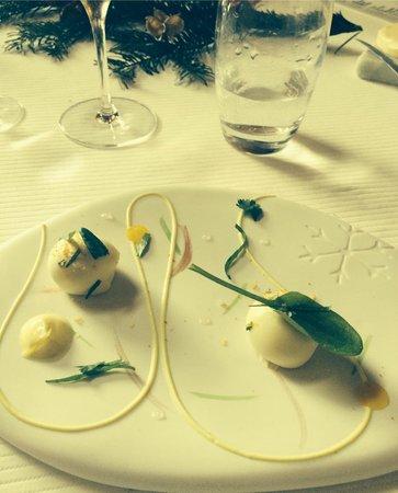 """Restaurant étoilé """"Flocons de Sel"""" : Langoustines froides en surprise"""