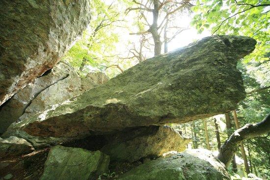 Yumiya Shrine: 動き岩
