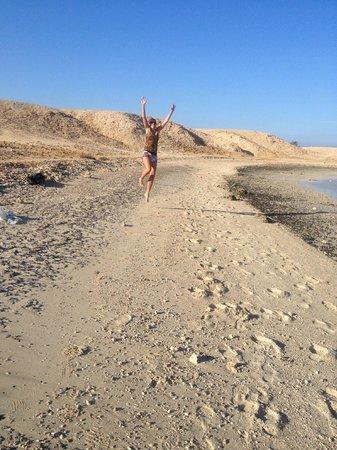 Wadi Lahmy Azur Resort: spiaggia deserta vicino il villaggio