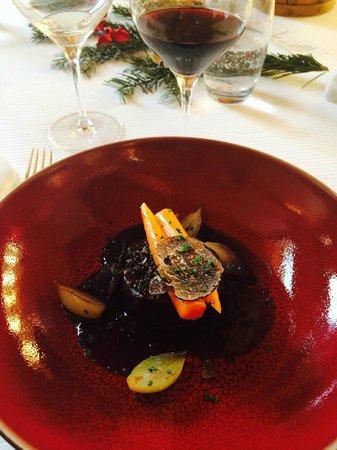 """Restaurant étoilé """"Flocons de Sel"""" : 6/ Plat (Boeuf et truffe)"""