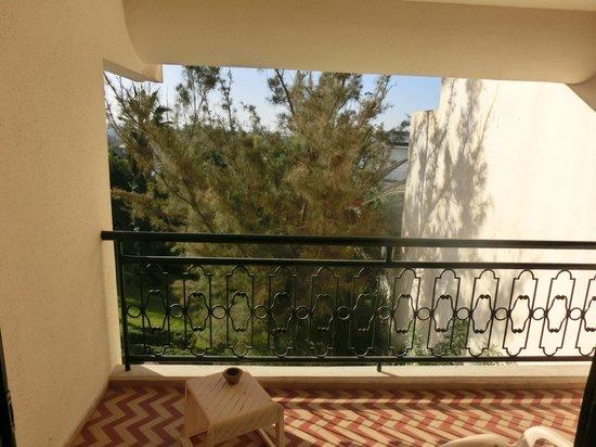 Hotel Argana : beperkt uitzicht vanaf de hotelkamer