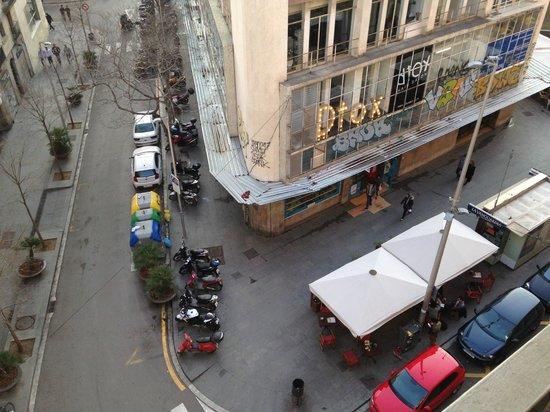 Hotel Ciutat Vella: View from floor 5 corner room