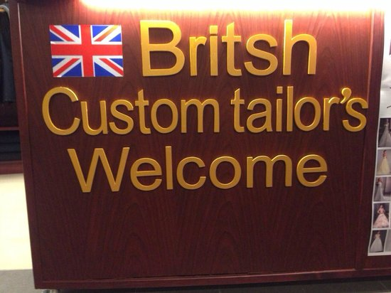 Get Custom suits, shirts, slacks today at British Custom Tailors.