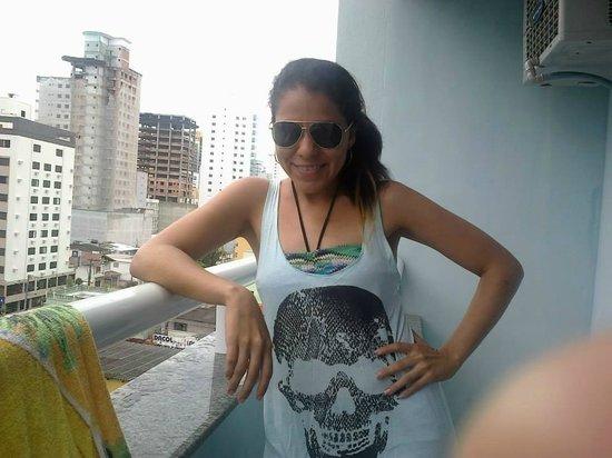 Hotel Vieiras: un balcón bello para mirar la vista de la ciudad.