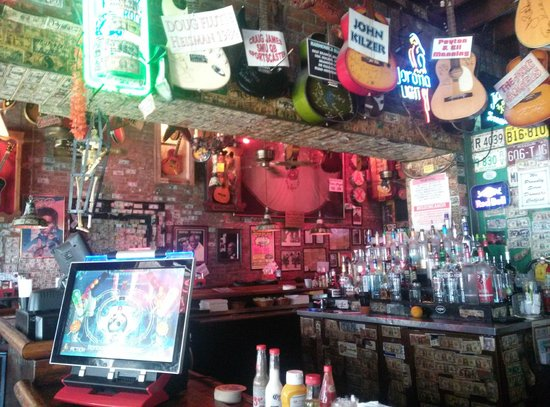 Rum Boogie Cafe: Guitars at the bar