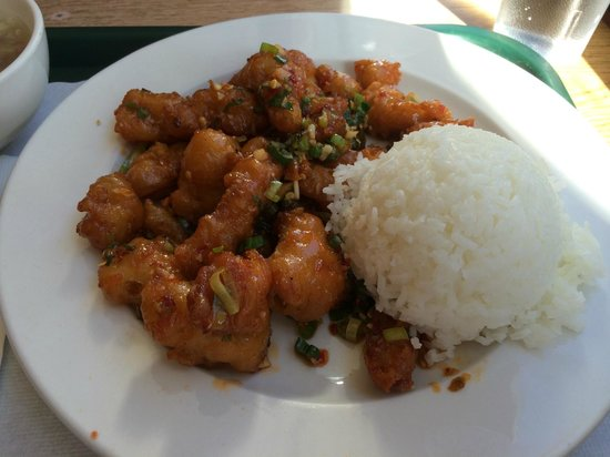 fu kee restaurant: Chili Chicken with white rice lunch special $7.75