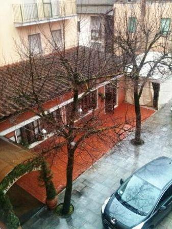 Hotel Cursula: vista da varanda para fumantes