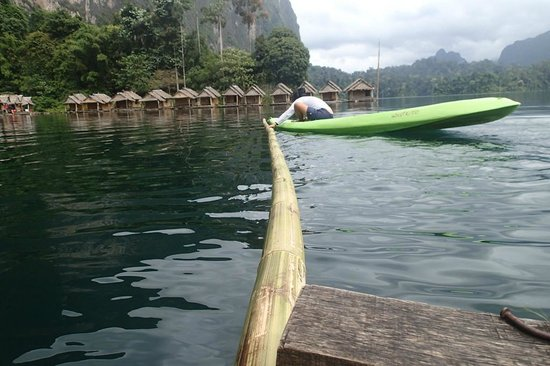 Saichol Resort: the floating bamboo:)