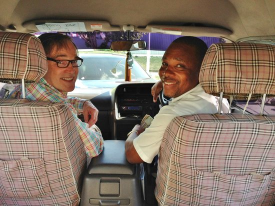 Gary's Jamaican Taxi & Tours: Picking us up