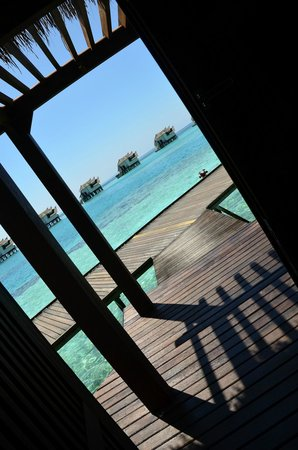 Jumeirah Vittaveli: The view from our front door