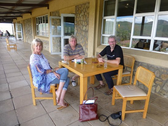 Katse Lodge: On the patio