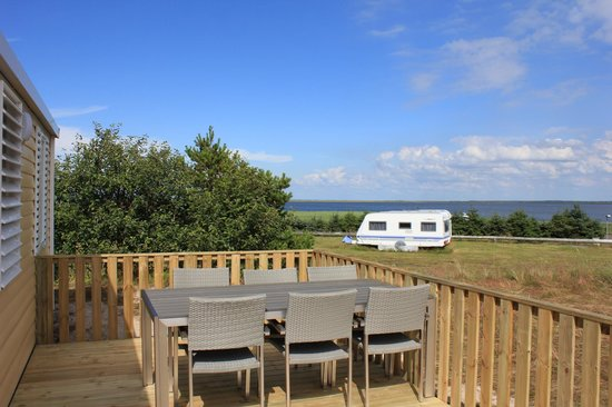 Bjerregaard Camping: view from mobilhome