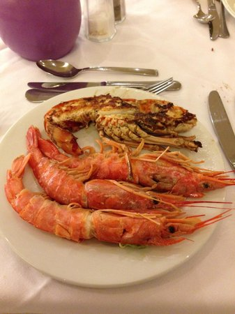Barcelo Bavaro Palace: Lagosta e camarão no bufett!!!!