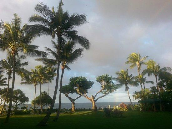Marriott's Waiohai Beach Club: View from our lania
