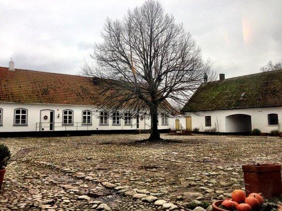 Idala Gard: View of innergården from the restaurant