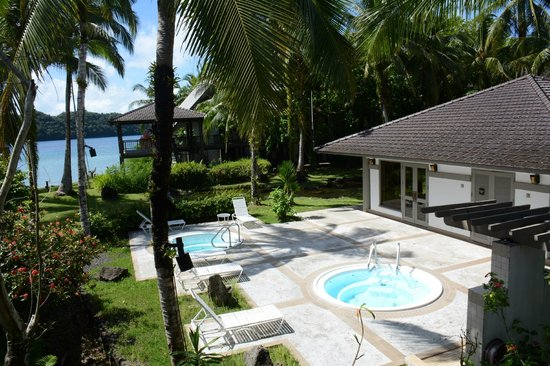 Palau Pacific Resort: view of the Gym and whirlpools