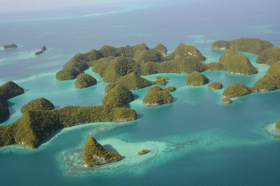 Palau Pacific Resort: Seventy Islands from the helicoper