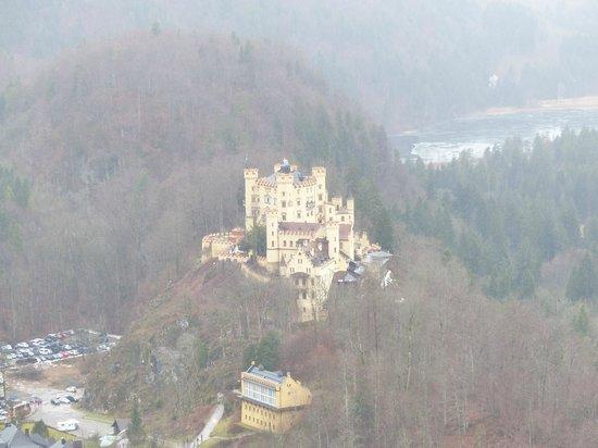 Schloss Hohenschwangau view from Neuschwanstain
