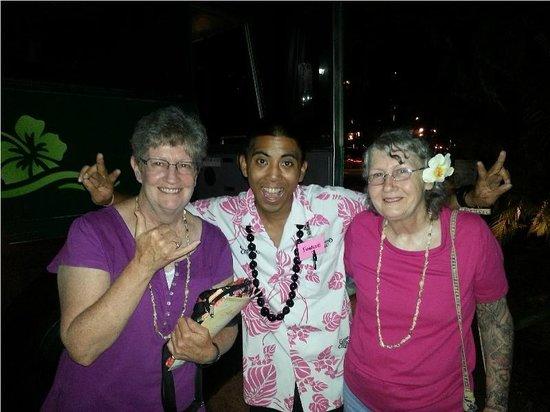 Germaine's Luau : Chad Oshiro, our bus host.