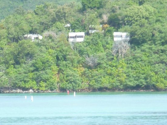 Concordia Eco-Resort : view of cabins from Maho beach