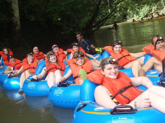 Butts Up Cave Tubing: Our group