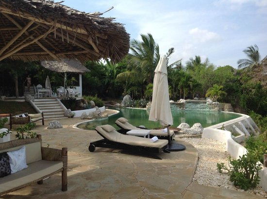 Msambweni Beach House: Het terras