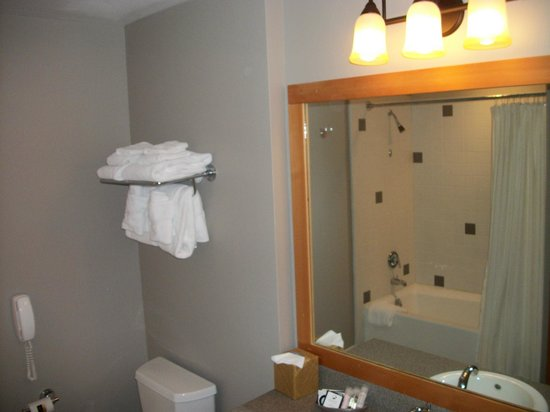 The Summit At Big Sky: Clean and wide bathroom.